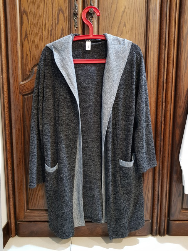 正韓二手針織假兩件罩衫外套