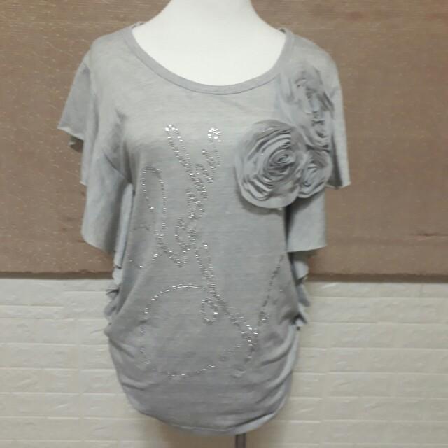 空靈灰薔薇立體裙裝
