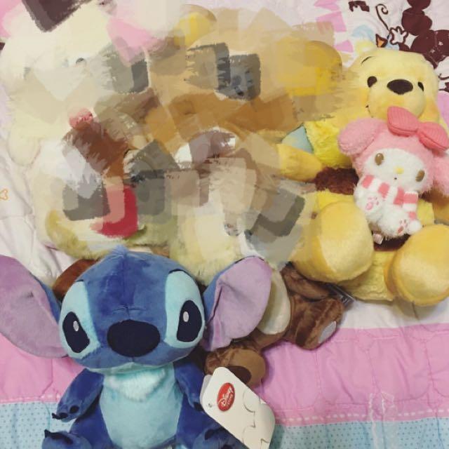 日本迪士尼史迪奇玩偶 全新