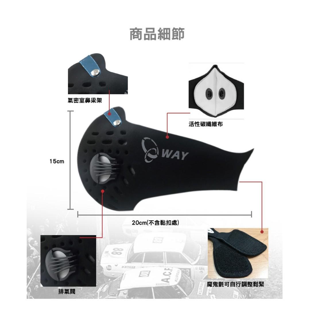 全方位 可換式 機能活性碳口罩