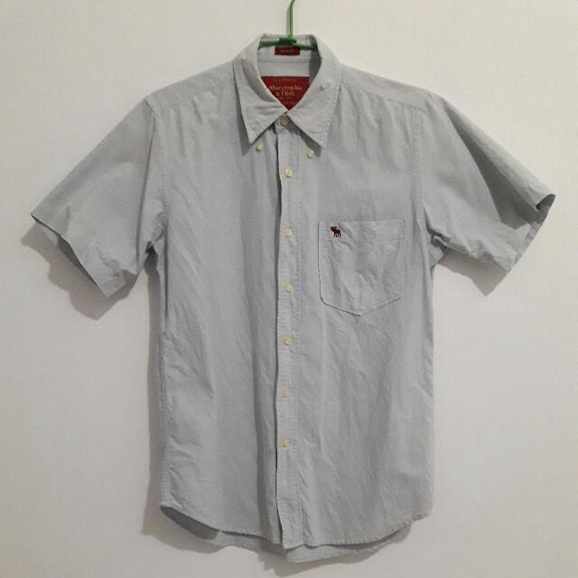 Abercrombie&Fitch 短袖襯衫 AF HOLLISTER