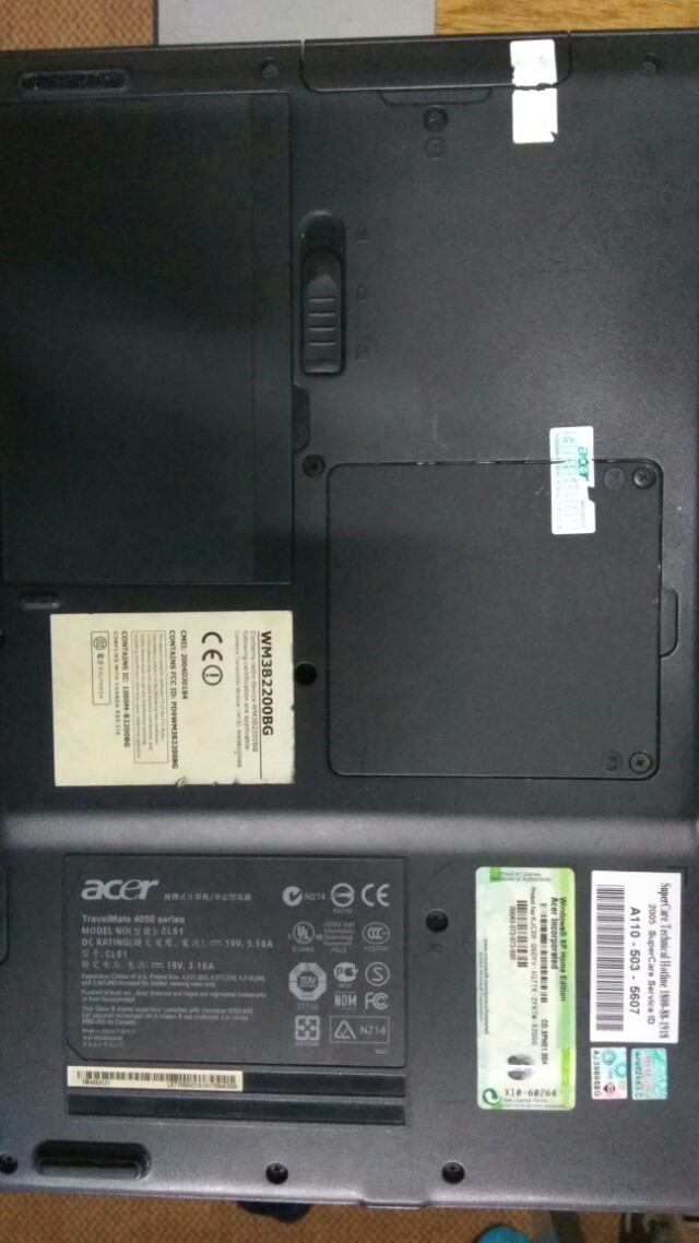 1b73f8f640e acer trevelmate 4052, Electronics, Computer Parts & Accessories on Carousell