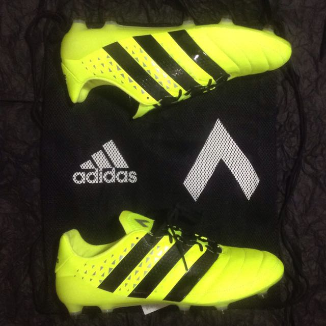 newest 39731 ffafb  HUAT50sale Adidas ACE 16.1 Leather Football Boots FG   AG, Sports, Sports  Apparel on Carousell