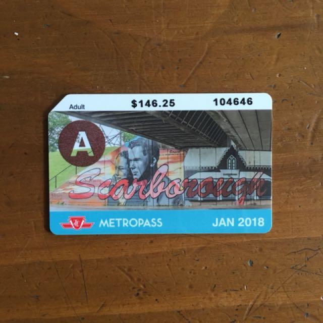 Adult January 2018 Metropass