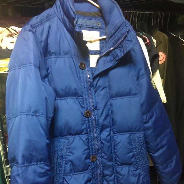 AF正品寶藍色羽絨外套
