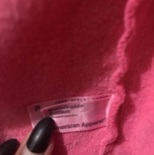 American Apparel Oversized Hot Pink Hoodie
