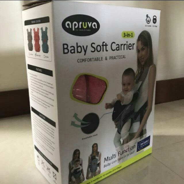 APRUVA baby soft carrier 3 in 1