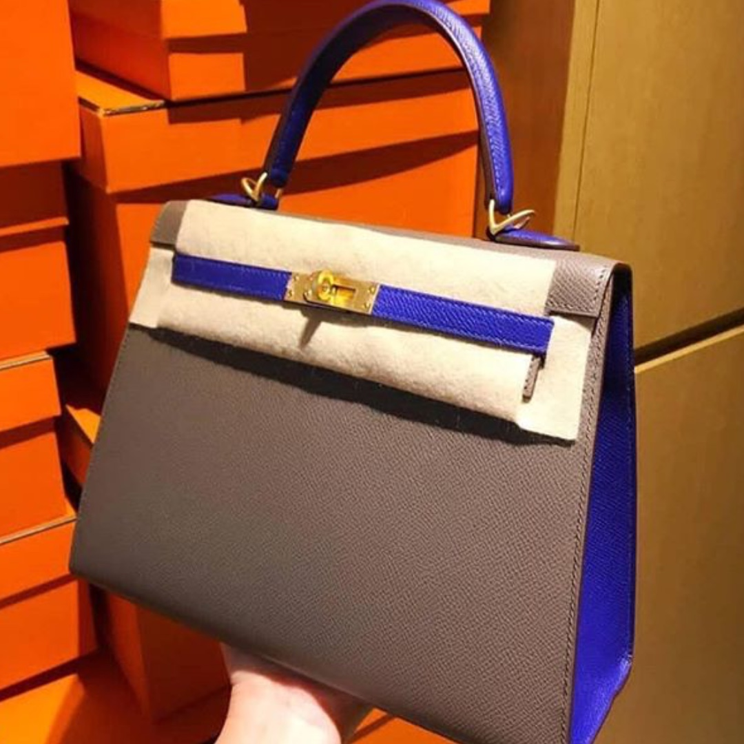 f369c990120f ... norway authentic hermes kelly 25 hss etain blue electric epsom sellier  ghw stamp a luxury bags