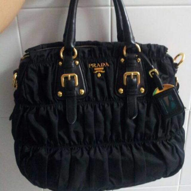 cec938cc Authentic PRADA classic Bag In Black, Luxury, Bags & Wallets on ...