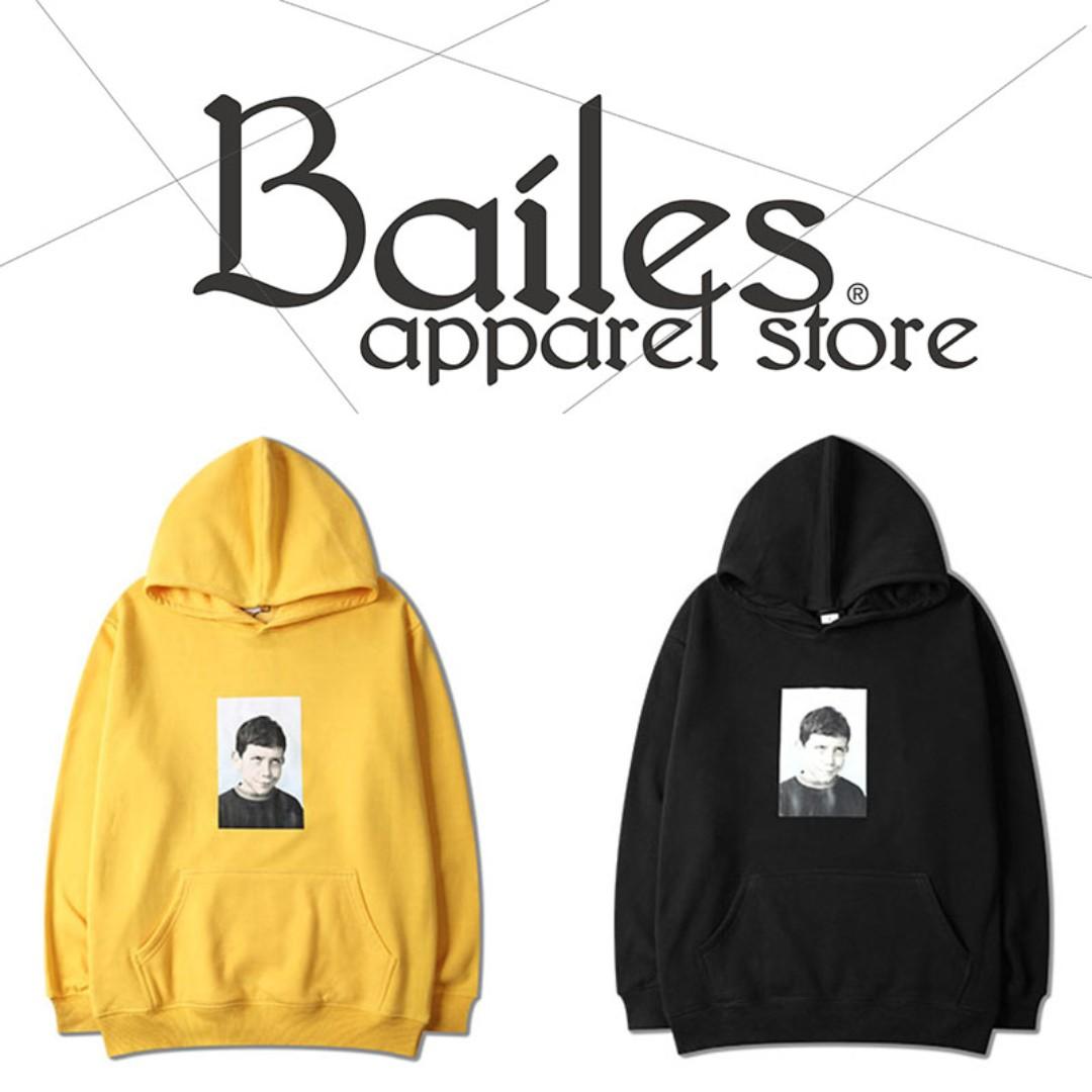 貝里斯Bailes【AA058】日韓版 / 男女款 日韓款趣味惡搞圖案印花背後字母搭配內裏保暖連帽帽T