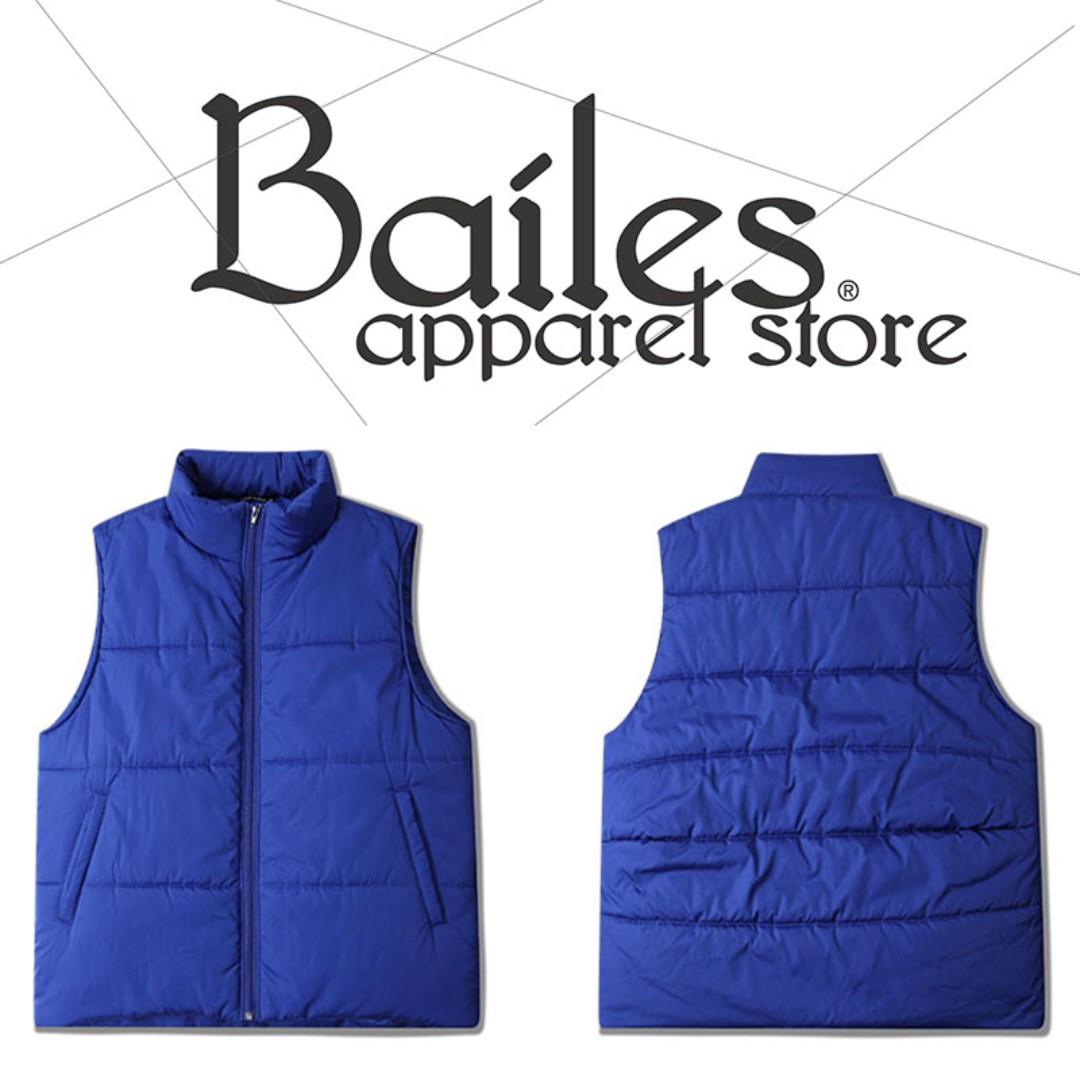 貝里斯Bailes【AG007】日韓版 / 男女款 日韓款東大門全素面保暖冬款羽絨背心 百搭實穿