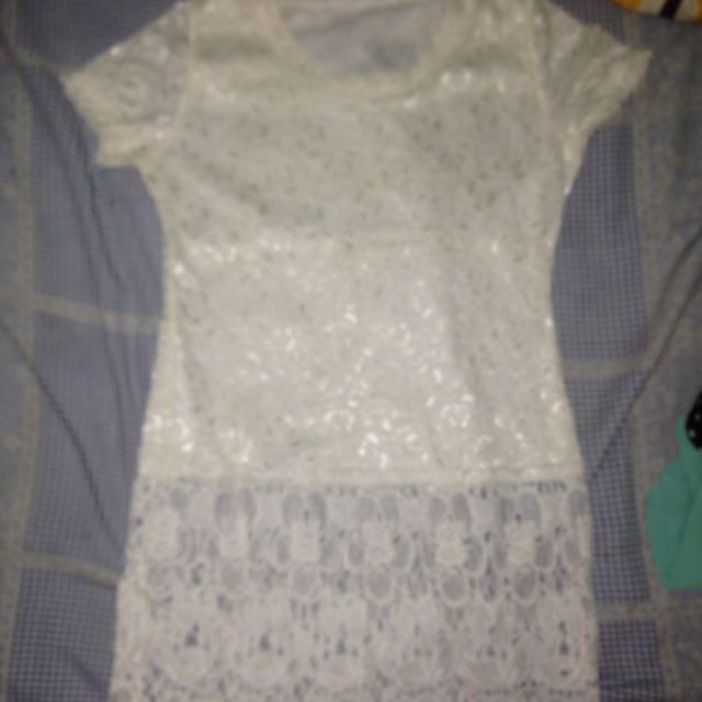 Baju brukat putih