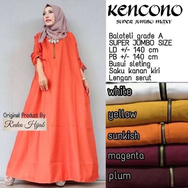 Baju Wanita Gamis Kencono Super Jumbo Muslim Modern Modis Lucu