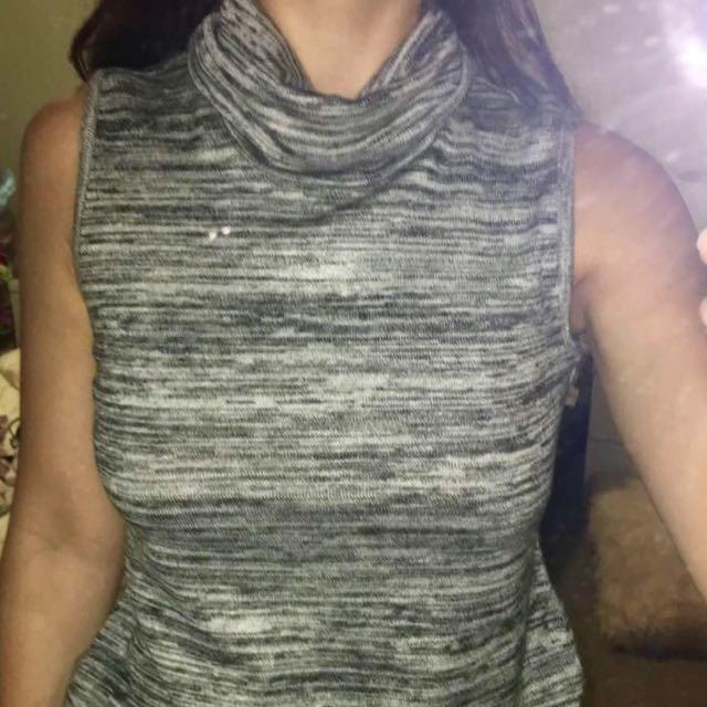 Bardot sleeveless turtle neck