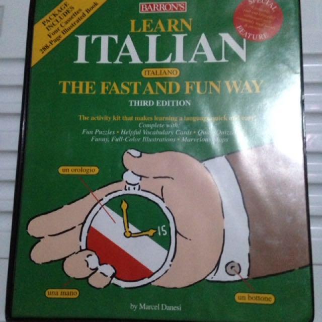 Barron's Learn Italian cassete set