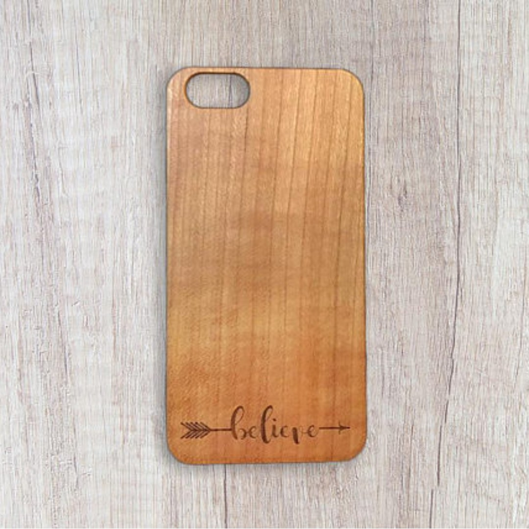 Believe - Personalised Wooden Phone Case