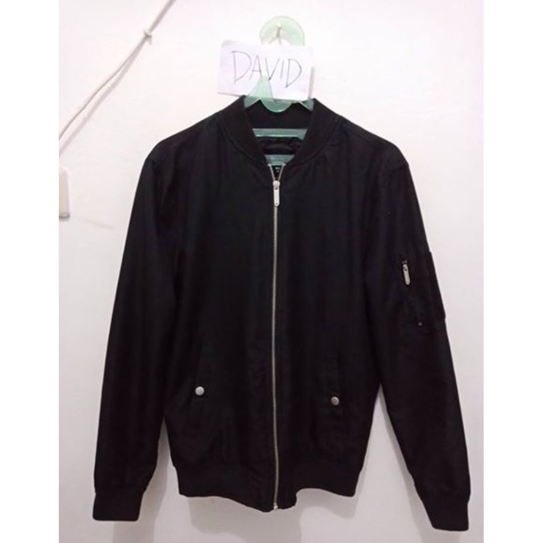 Bershka Black Bomber Jacket