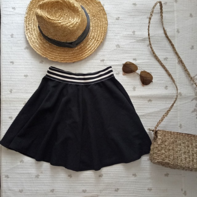 Bershka black skirt