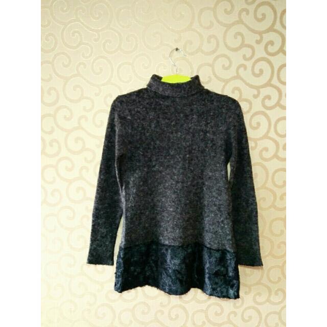 Black Furry Sweater