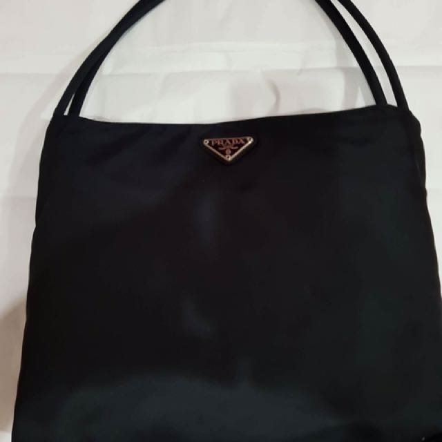 66298d294ad0 ... ireland black prada nylon bag authentic and pre loved preloved womens  fashion bags wallets on carousell