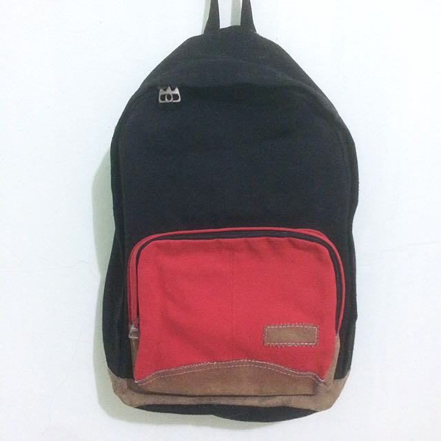 Black Thick Cotton Bagpack
