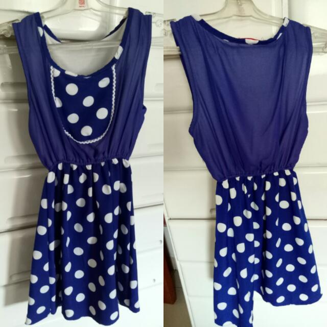Blue Dot Mini Dress