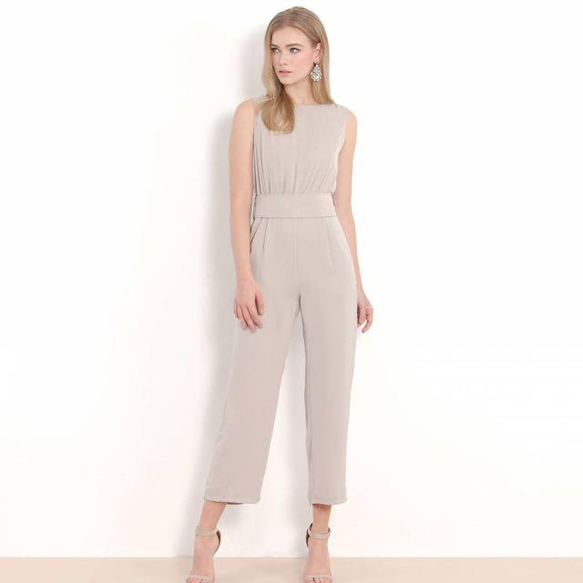 ee047eeff975 BN HVV Pelagia Ruched Pantsuit - Pebble Grey