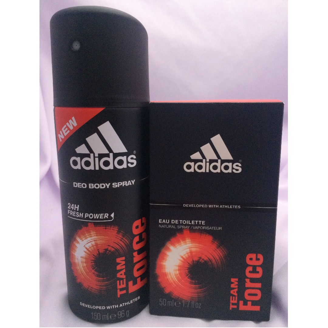 Bnew Adidas Team Force EDT and DEO Spray (Men)