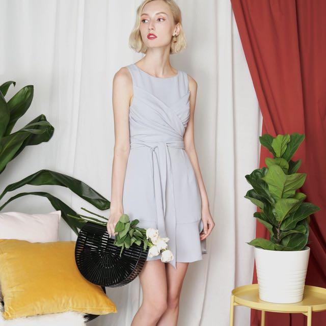 BNIB AWD Wrap Front Dress (lilac grey)