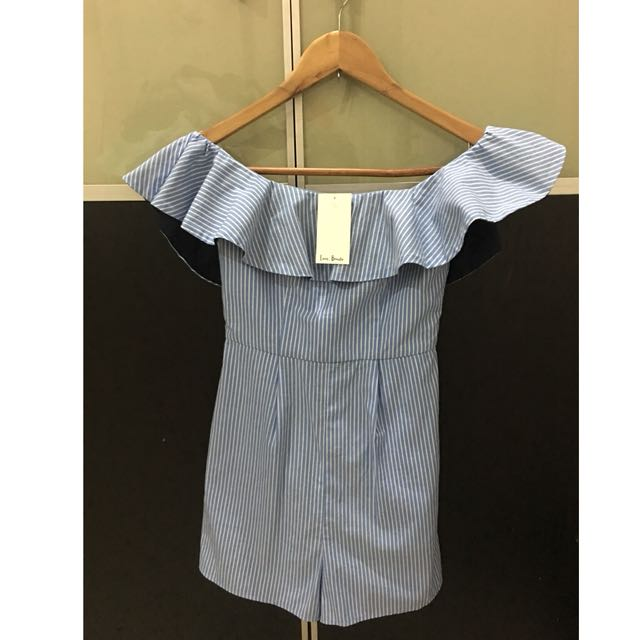 Brand New Love Bonito playsuit blue size XS