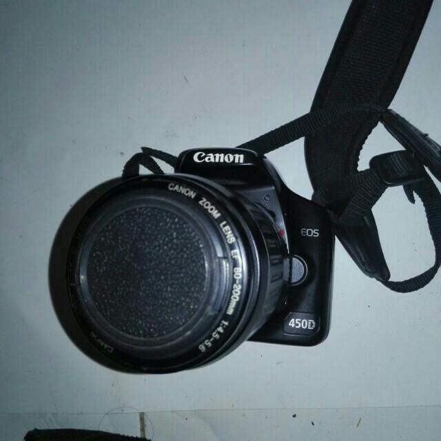 Canon eos 450D + tele 80-200 murah