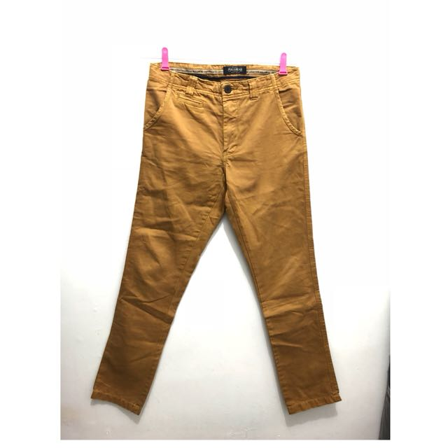 Celana Pull & Bear Original Chino Brown Coklat