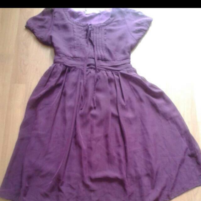 CLEARANCE!! NEW wine Coloured Dress For Adult/ Teenager
