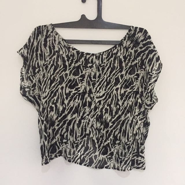 Color Box Zebra Blouse
