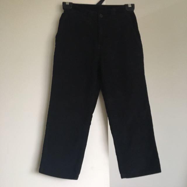 Corduroy capri 3/4 pants