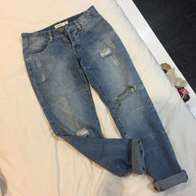 cotton on boyfried ripped jeans