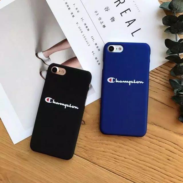Cute champion iphone cases blue black 6/7