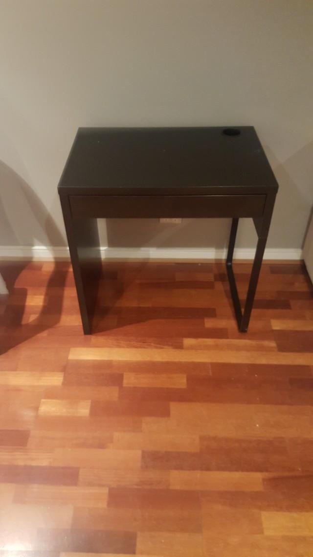 Dark brown desk with draw