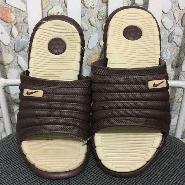 Dark Brown Nike Slippers