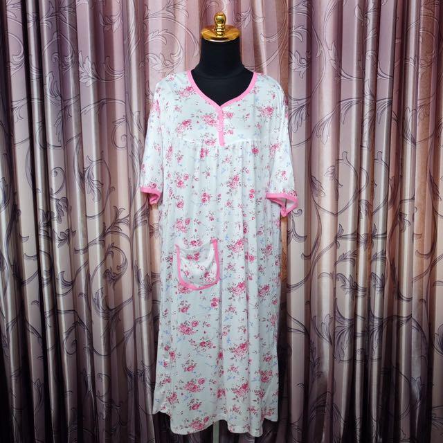 Daster dress floral pink
