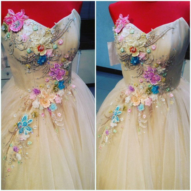 debut gown/js prom gown/ made to order, Preloved Women\'s Fashion ...