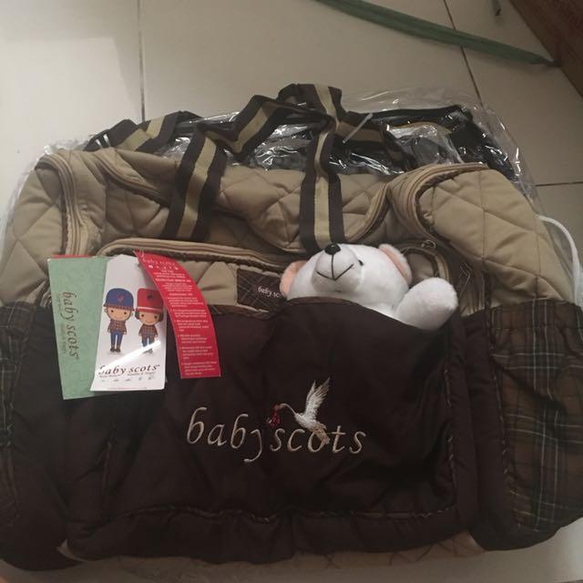 Diaper bag baby scots