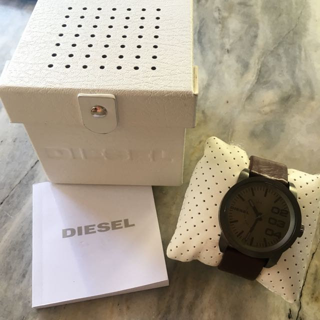Diesel men's watch leather strap