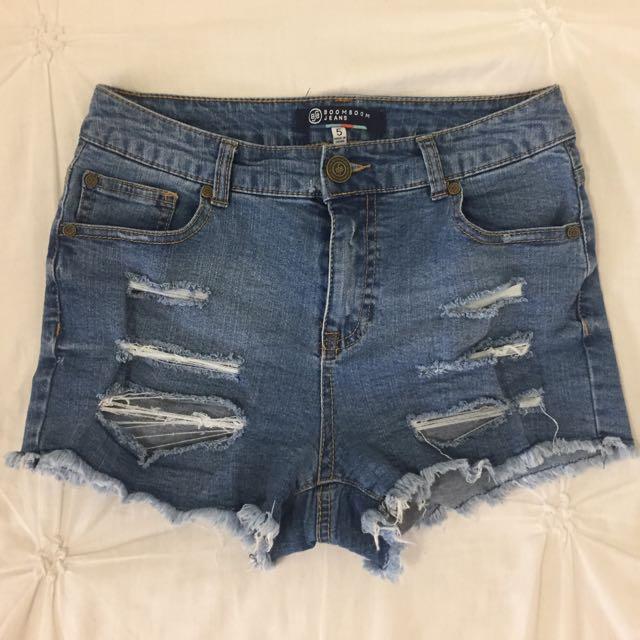 Distressed / Ripped Denim Shorts
