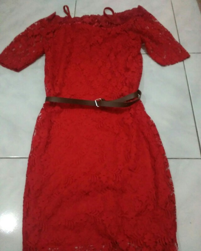 Dress full brokat