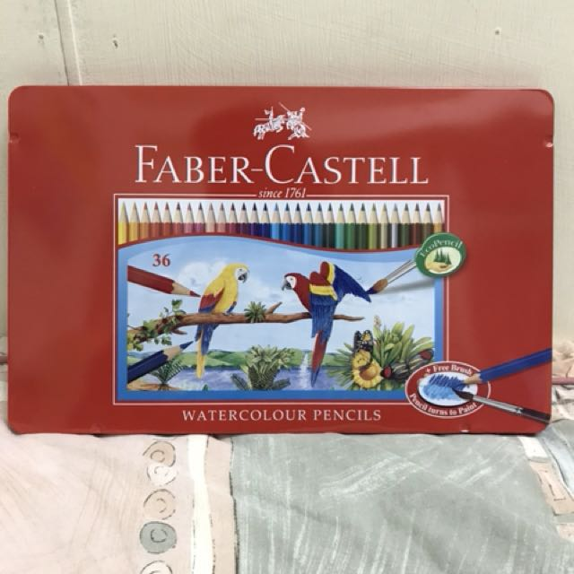(二手近全新)FABER盒裝36色水彩色鉛筆