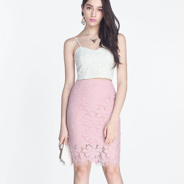 Fayth Kaia Lace Skirt