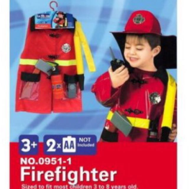 Fireman Play Set And Costume For Kids