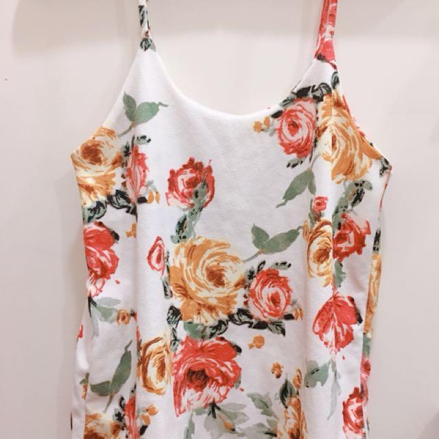 Floral Spaghetti Strap blouse