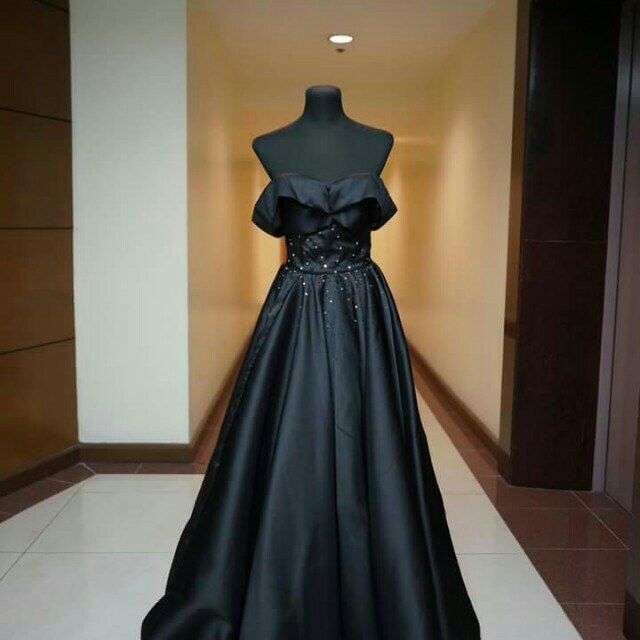 FOR RENT!!! black silky ball gown inspired by jodi sta maria ...